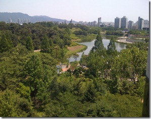 View from the meeting room onto Olympic National Park in Seoul, by BIK
